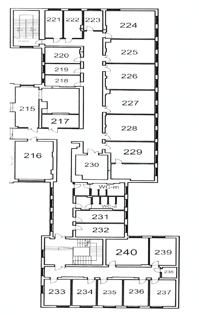 map of a 1st floor