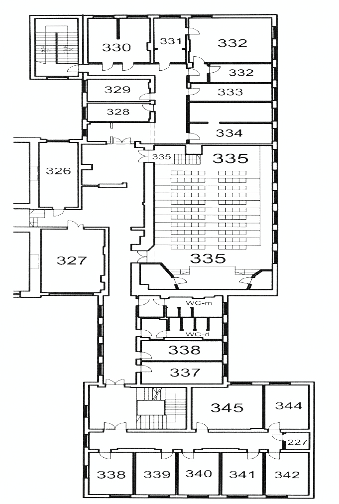 map of a 2nd floor