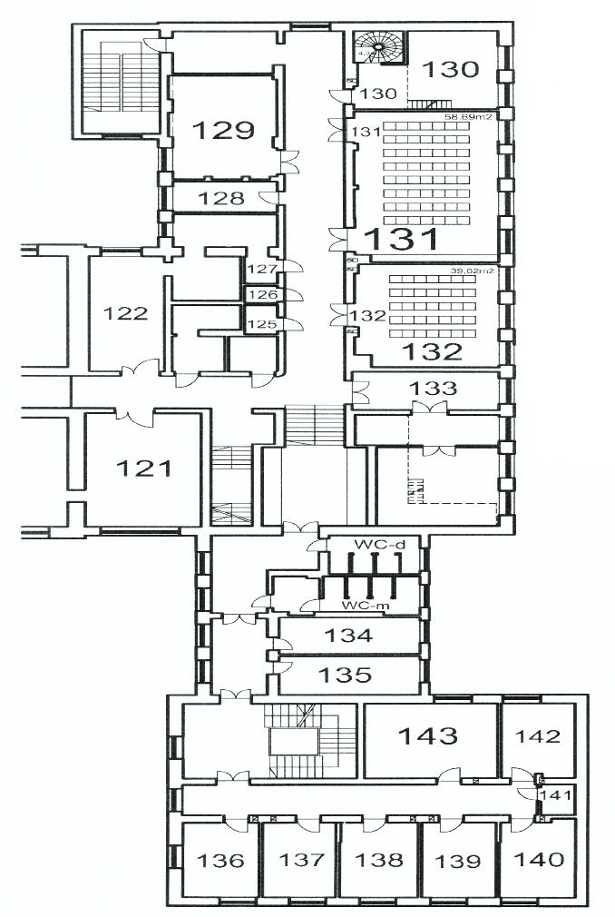 map of a ground floor